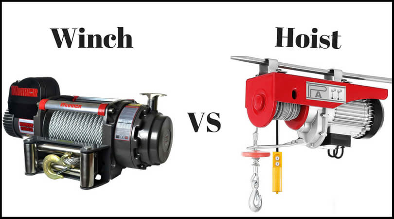 Difference of Winch vs Hoist