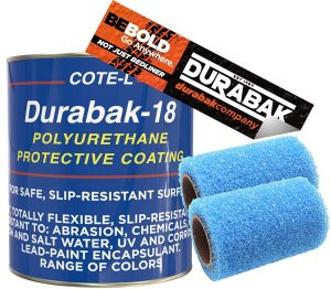 Durabak White Textured Roll On Coating