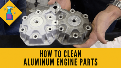 How to clean aluminum engine parts